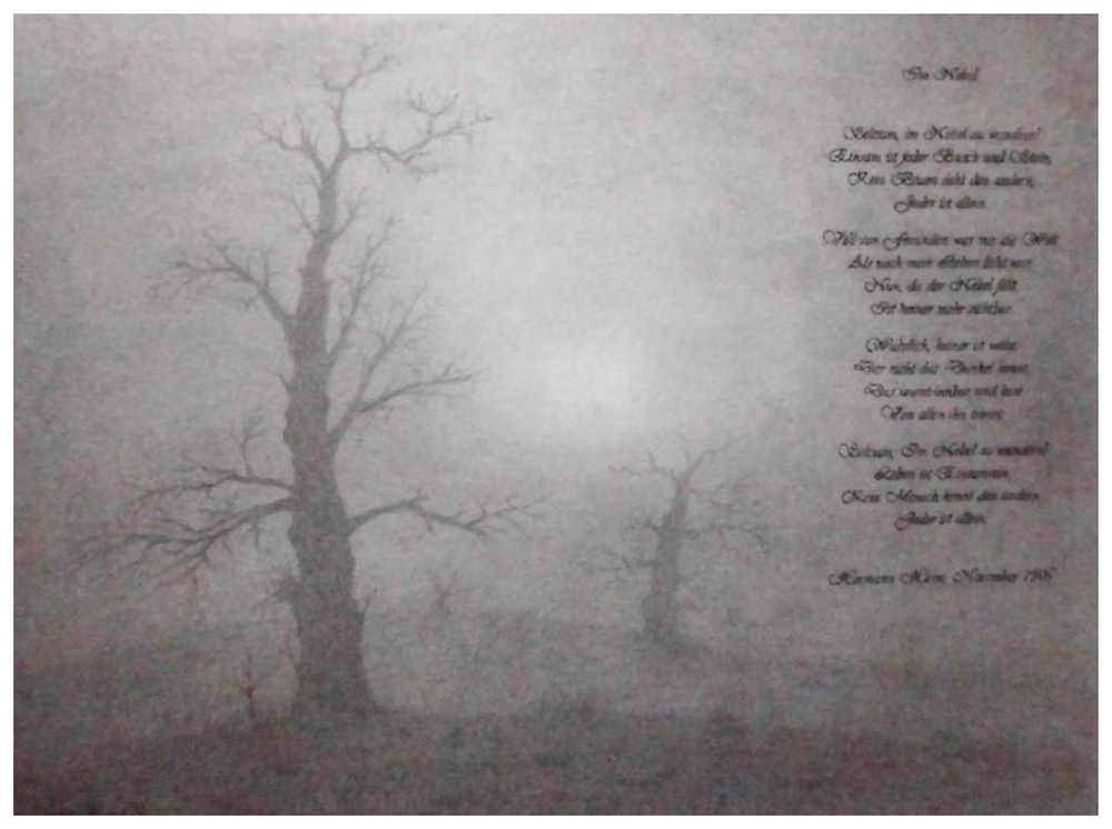Hesse gedicht im nebel